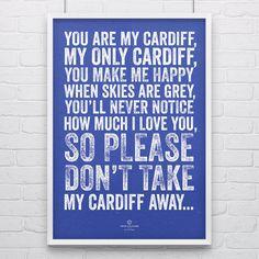 Cardiff City 'My Cardiff' Football Song Print