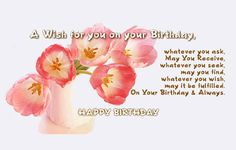 belated happy birthday - Google Search Best Birthday Wishes Quotes, Birthday Greetings For Sister, Birthday Wishes For Women, Happy Late Birthday, Happy Birthday Quotes For Friends, Birthday Poems, Happy Birthday Flower, Happy Birthday Images, Beautiful Birthday Cards