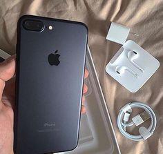 """Matte Black iPhone 7 👌 Rate it 👇 Free Iphone 6 Plus, Coque Iphone 7 Plus, Ipad, Iphone Insurance, Accessoires Iphone, Iphone Accessories, New Phones, Apple Iphone 6, Apple Watch"