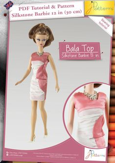 The Bala top is the ideal outfit to give an elegant look to your doll. This top, with a draped front and an original collar shape brings a pretty look. The silk and muslin fabric are a good match in this outfit.