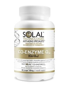 Solal Co-Enzyme Q10 - http://www.liferetreat.co.za/shop/supplements-2/solal-co-enzyme-q10/ An essential energising antioxidant, responsible for keeping cells alive. Co-enzyme Q10 deficiency results in heart damage, reduced brain function and cell death.      Life Retreat | South Africa