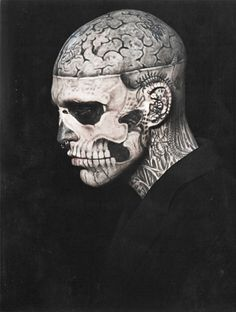 rick genest - a walking, talking piece of art Rick Genest, Cool Tattoos, Tatoos, Old Fashioned Boy Names, Daniel Henney, Travis Fimmel, Javier Bardem, Memento Mori, Skin Art