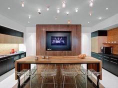 table en teck, table teck originale, cuisine moderne design