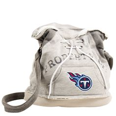 Little Earth NFL Tennessee Titans Hoodie Shoulder Tote (1), Women's, Grey heather (polyester, embroidered)