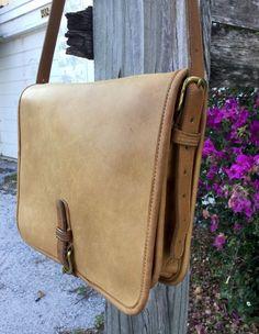 Coach Vintage Tan Leather Equestrian Saddlebag NYC 70's Bonnie Cashin Era in Clothing, Shoes & Accessories, Women's Handbags & Bags, Handbags & Purses | eBay
