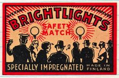 vintage matchbox label: from the 30s