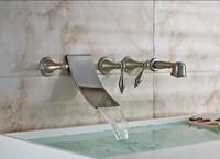 Simple travertine border adds elegance to a garden tub surround ...