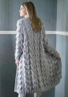 Discover thousands of images about Lana Grossa FILATI COLLEZIONE no. 3 Fluffy autumn look, warmly recommended . Knit Cardigan Pattern, Chunky Knit Cardigan, Crochet Jacket, Knit Crochet, Angora Sweater, Sweater Coats, Autumn Look, Knitted Coat, Coat Patterns