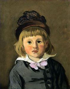 Portrait de Jean Monet en bonnet (C Monet - W 142)