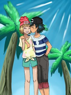 Due to the lack of Alola!Amour art, gotta make it myself right? Designing these was tons of fun, and I'm specially content with how Ash came out!♥ Amourshipping through time and space! I have...