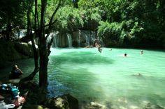 Do you like this natural swimming pool?   Luang Prabang - The Most Charming City in Laos.  #luangprabang #luang #prabang #laos #swimming #pool #swimmingpool #indochina #tomyasia #charming #city #nature