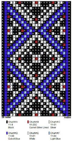 Bunad, Smykker, vev & rosemaling. Mønster m.m Bead Loom Patterns, Cross Stitch Patterns, Beaded Hat Bands, Native American Beading, Loom Bracelets, Peyote Stitch, Loom Beading, Bead Weaving, Bead Crafts