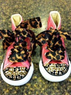Rhinestone Embellished Converse Tennis Shoe Infant-Size 2 on Etsy, $65.00