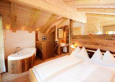 Almhütte 1 Stein #Honeymoon Premium. Das 4 Stern Hüttendorf in Leogang. #Chalets in Salzburg! #Urlaub in Österreich!
