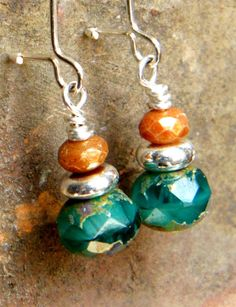 Teal Earrings - from Budding Creations 1 on Etsy