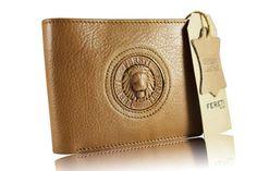 f1338b337c4 Heren portemonnee leder dun slim licht bruin leren door Fereti