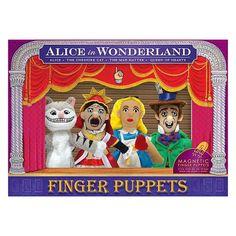 Alice in Wonderland Plush Finger Puppet Magnet Set