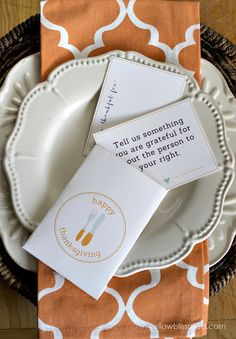 "These printables will be perfect for entertaining this Thanksgiving, whether you have a few guests or a whole room full. Keep your guests occupied with ""I'm Thankful"" cards, or get the dinner conversation flowing with conversation starters, both of which fit perfectly into the free printable utensil holder envelopes. Speaking of Thanksgiving, I can hardly …"