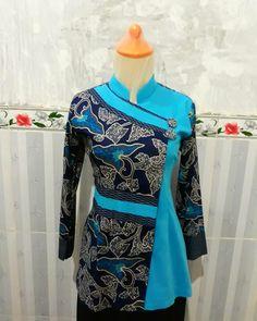 Model Dress Batik, Batik Dress, Batik Kebaya, Batik Fashion, Ethnic Fashion, Blouse Batik Modern, Batik Muslim, Mode Batik, Model Kebaya Modern