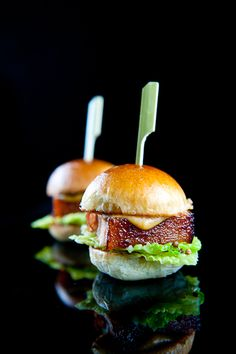 Pork Belly Sliders with Pickled Cabbage & Maple Mustard
