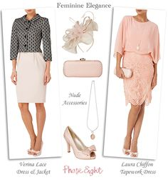 Phase Eight Modern Mother of the Bride dresses in soft pink two piece wedding guest outfits