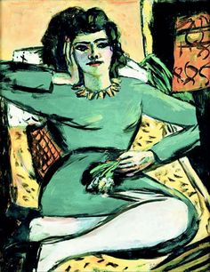 Resting Woman with Carnations (1940-42) by Max Beckmann.