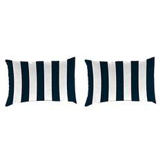 Navy Stripe Outdoor Accent Pillows, Set of 2 | Kirklands