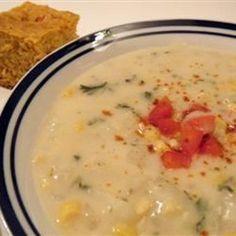 "Grandma's Corn Chowder | ""Very Yummy! I love corn chowder and this tasted just like mom's!"""