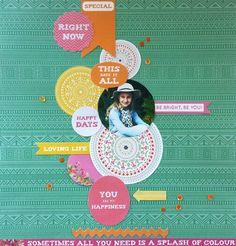 Kaisercraft : Fiesta Collection : Be Bright, Be You layout by Amanda Baldwin