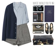 """""""WHERE WOULD YOU FIT IN?"""" by emmas-fashion-diary ❤ liked on Polyvore featuring Joie, Alice + Olivia, Uniqlo, ASOS, Smythson and Retrò"""