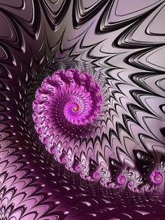 Abstract art based on a fractal, spiral full of power and energy with purple, pink, orchid and black colors. Available as poster, framed fine art print, metal, acrylic or canvas print. Matthias Hauser fractal-art-prints.com - Fractal Art for your Home Decor and Interior Design needs.