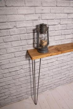 Narrow Rustic Console Table with Hairpin Legs, Slimline Hall Table, Narrow Rustic Hallway Table,Hallway Shelf/Table*FREE Leg Protectors* Narrow Hallway Table, Rustic Hallway Table, Hallway Shelf, Rustic Console Tables, Narrow Console Table, Dinning Table, Entryway Tables, Hallway Furniture, Table Shelves
