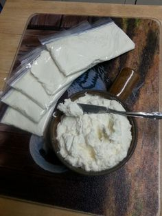 Cream Cheese made from Nubian Goat Milk.