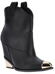 97315f785c587 Giuseppe Zanotti Design - western wedge boot 6 Short Cowgirl Boots, Western  Boots, Giuseppe