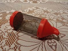 Vintage Cricket Bait Cage - Wire Mesh and Plastic Live Bait Container -  16-030…