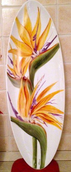 Piatto ceramica dipinto a mano soggetto sterlizia