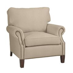 Original Vintage Queen Anne Style Wing Chair with Crewel ...