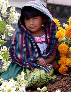 Nina Purepecha -  Mexico - A Little Child of The Purépecha (endonym P'urhépecha [pʰuˈɽepet͡ʃa]   an indigenous people centered in the northwestern region of the Mexican state of Michoacán, principally in the area of the cities of Cherán and Pátzcuaro.