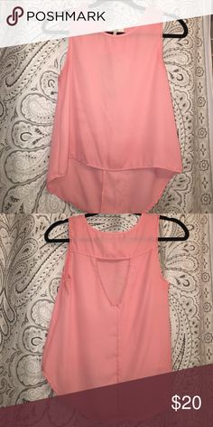 XS pink shirt -- opening in back XS pink shirt -- opening in back. High-low type shirt from Nordstrom Rack Tops Blouses