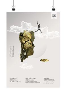 Cartel Poetry Slam. Poema: Silvia Nieva by Cristal Lafont, via Behance