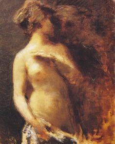 """""""Nudo Femminile"""" - Daniele Ranzoni, 1880"""