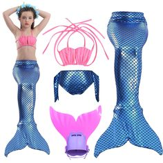Mother & Kids Humble Baby Girls Kid Cosplay Mermaid Tail Dress Costume Mermaid Tails For Swimming Swimsuit Mermaid Costume Without Monofin Children Special Summer Sale