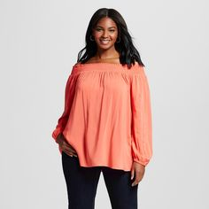 b8612a35984 Women s Plus Size Off the Shoulder Top Maori Flower Red 4X - Ava  amp  Viv.  Affordable Plus Size ClothingPlus ...