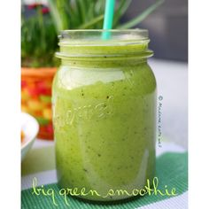 Green smoothie - baby spinach, kiwi, oranges, pineapple, mango, water, apple, avocado