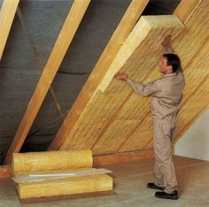 How to insulate the roof properly? Roof Insulation, Attic Renovation, House In The Woods, Butcher Block Cutting Board, Home And Garden, House Design, Interior Design, Building, Wood Houses