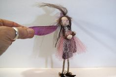 ooak poseable Pissed Off sugar plum pixie FAIRY ( #75 ) polymer clay art doll by DinkyDarlings  pixie fairy angel by DinkyDarlings on Etsy