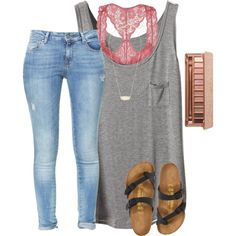 A fashion look from December 2016 featuring Zara jeans, Youmita bras and Birkenstock sandals. Browse and shop related looks.