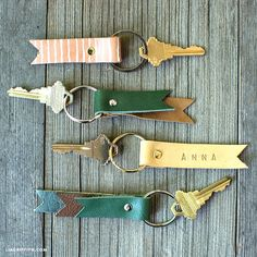 Stamped DIY Leather Keychains