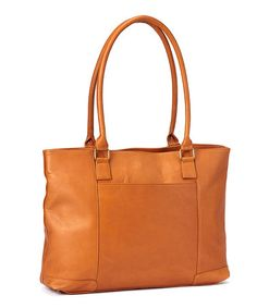 Tan Laptop Satchel by Le Donne