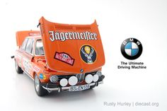 "BMW 2002 Rally Monte Carlo ""Jagermeister"" Diecast Scale Model by Autoart Truck Scales, Bmw 2002, Rally Car, Diecast Models, Monte Carlo, Buses, Scale Models, Motors, Australia"
